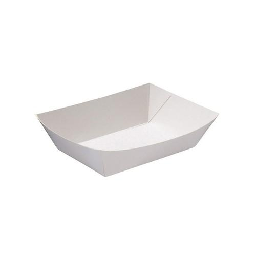 FOOD TRAY BOARD WHITE LINED REDISERVE #1 120X86X25MM (CT1000)