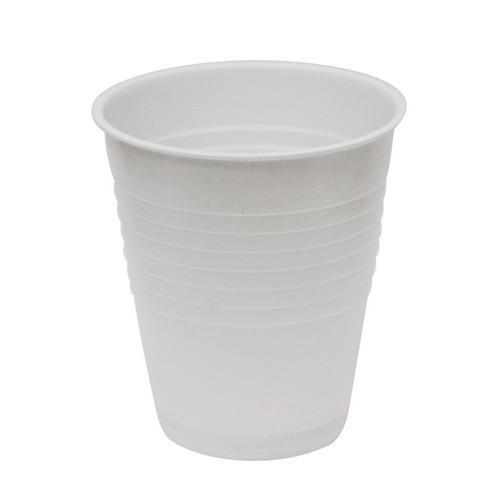 CUP PLASTIC WHITE 200ML (PK50)