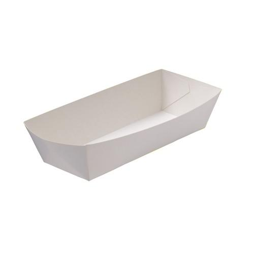 HOT DOG TRAY BOARD WHITE LINED REDISERVE 190X70X50MM (CT250)