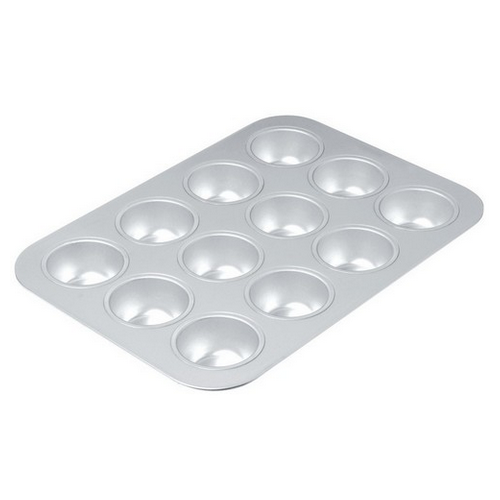 MUFFIN PAN UNCOATED 12 CUP 400X280MM CHICAGO METALLIC