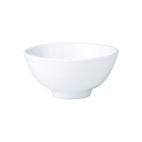 BOWL ROUND RICE FOOTED 100MM ROYAL PORCELAIN
