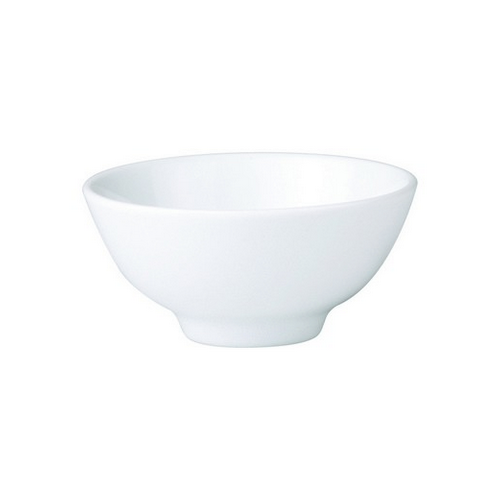 BOWL ROUND RICE FOOTED 115MM ROYAL PORCELAIN