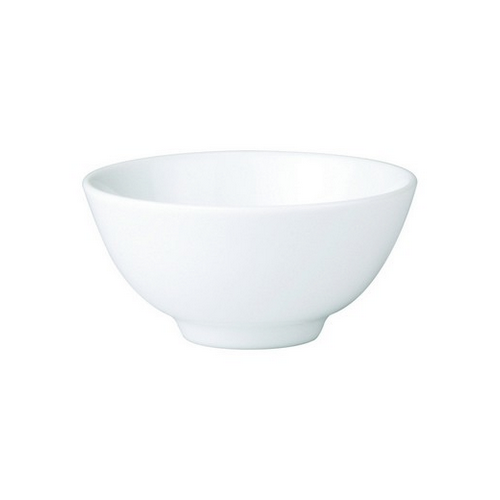 BOWL ROUND RICE FOOTED 125MM ROYAL PORCELAIN
