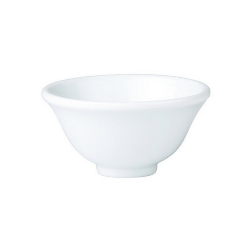 BOWL ROUND FOOTED TAPERED 100MM ROYAL PORCELAIN