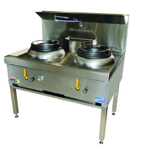 WOK 2 BURNER W/DUAL RING BURNERS AIR COOLED GAS GOLDSTEIN