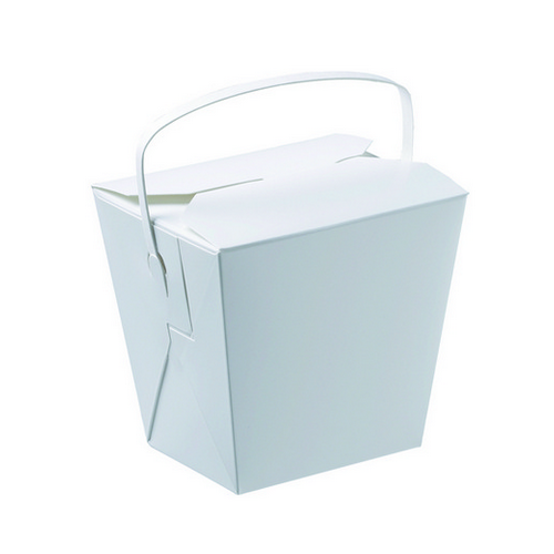 FOOD PAIL 8OZ WITH HANDLE 80X62X65MM (PK25)
