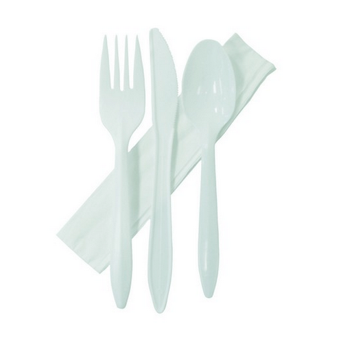 CUTLERY PACK - PLASTIC KNIFE / FORK / SPOON & NAPKIN