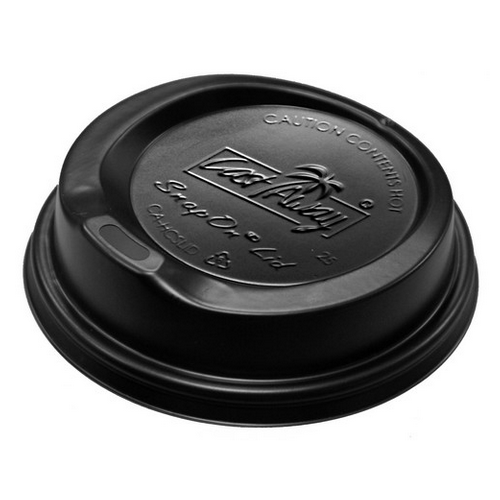 LID PLASTIC SIPPA BLACK FOR 280//355/460ML PAPER CUP (PK100)