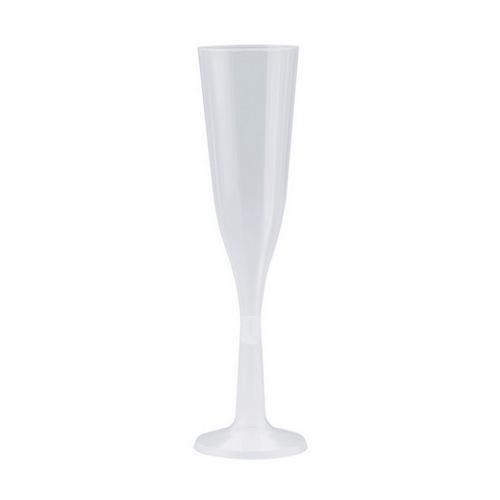 FLUTE PLASTIC CLEAR 144ML ELEGANCE (PK10)