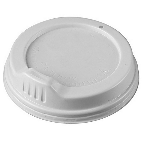 LID PLASTIC SIPPA WHITE FOR FOAM CUP 355ML (PK100)