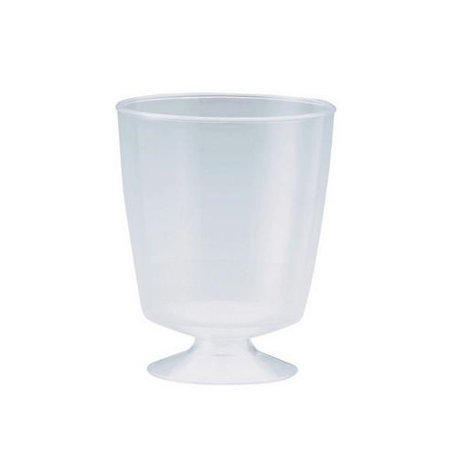 WINE TUMBLER PLASTIC CLEAR 185ML ELEGANCE (PK10)