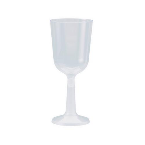 WINE GOBLET TALL PLASTIC CLEAR 197ML ELEGANCE (PK10)