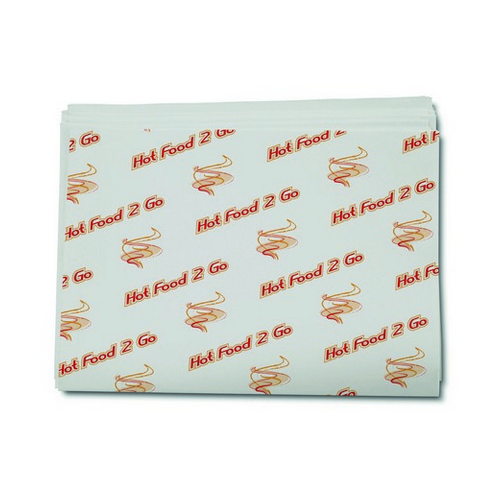 GREASEPROOF PAPER SHEETS HOT FOOD 2 GO 310X430MM (PK2000)