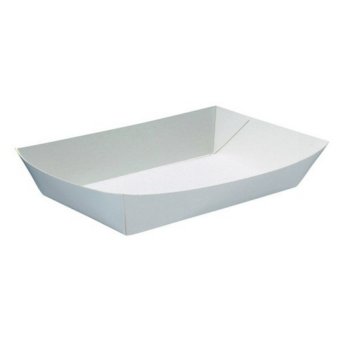 FOOD TRAY BOARD WHITE LINED REDISERVE #6 290X230X52MM (CT200)