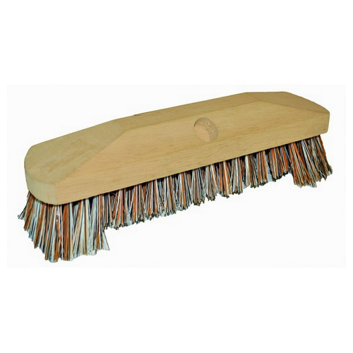 BRUSH DECK SCRUB 300MM DOUBLE WINGED WOOD PINNACLE EDCO