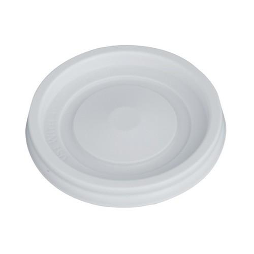 LID PLASTIC FLAT WHITE FOR 4OZ / 118ML CUP (PK100)