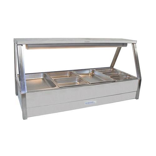 HOT FOOD DISPLAY BAR STRAIGHT GLASS 2X4 PAN & R/D ROBAND