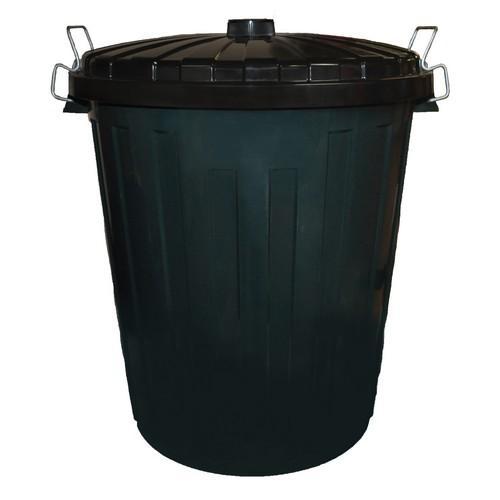 BIN GARBAGE 73L PLASTIC GREEN W/LID EDCO