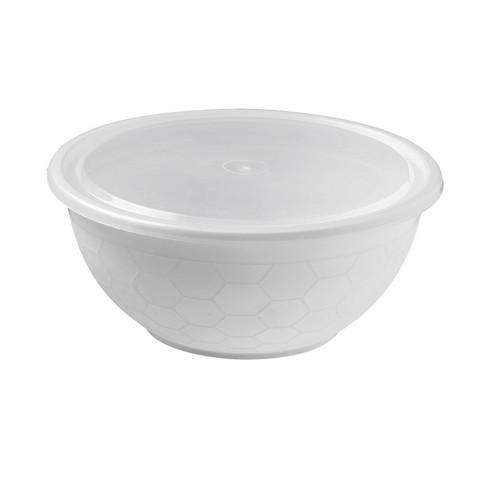 LID PLASTIC FOR SUNBOWL CONTAINER WHITE (PK50)