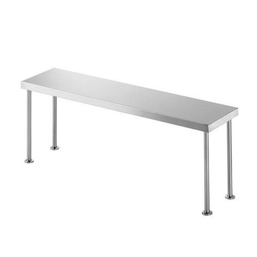 BENCH OVERSHELF S/S SINGLE 1500X300X450MM SIMPLY STAINLESS