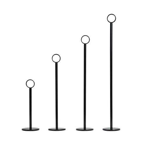 TABLE NUMBER STAND 300MM 70MM BASE BLACK