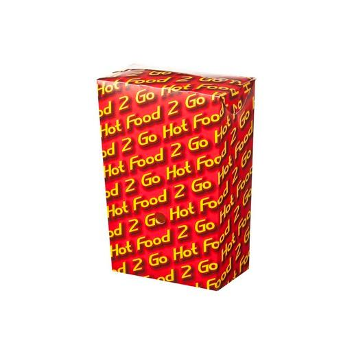 CHIP BOX BOARD LARGE HOT FOOD 2 GO 104X57X151MM (CT250)