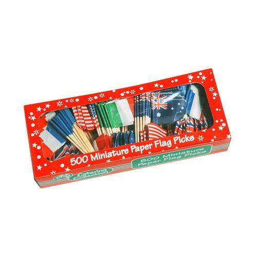FLAG PICK ASSORTED COUNTRIES ALPEN (PK500)