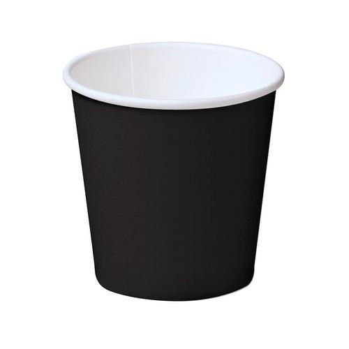CUP PAPER HOT DRINK SINGLE WALL BLACK 118ML (PK50)