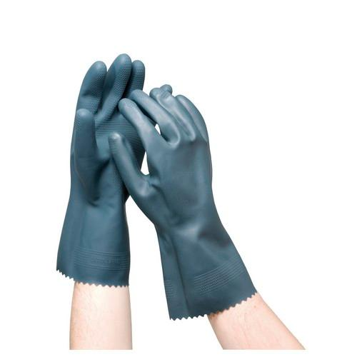 GLOVE PVC DIPPED GREY CHEMICAL RESISTANT 385MM OATES