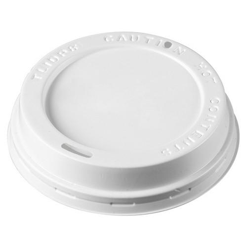 LID PLASTIC TRAVEL WHITE FOR D/W PAPER CUP 240ML (CT1000)