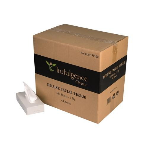 FACIAL TISSUE WHITE 100 SHEET CLASSIC DELUXE INDULGENCE