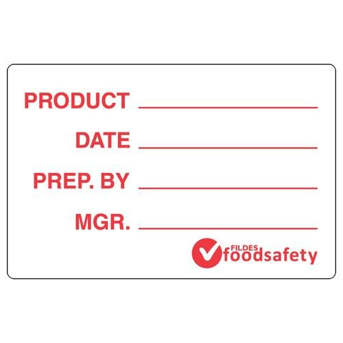 LABEL - PRODUCT - WHITE / RED 49X75MM REMOVABLE