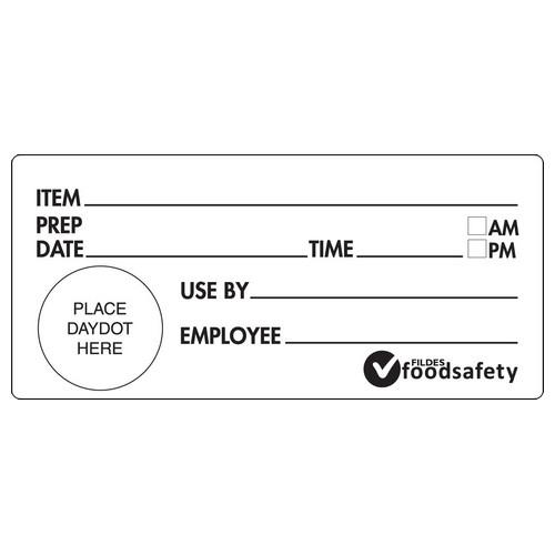 LABEL - SHELF LIFE -  WHITE / BLACK 102X47MM REMOVABLE