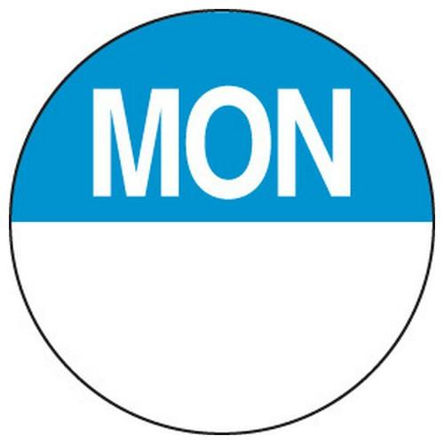 LABEL DAY - MONDAY / BLUE ROUND 24MM REMOVABLE