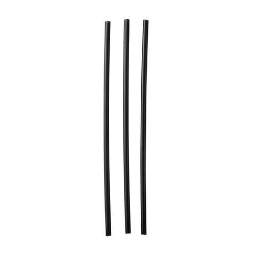 STRAW REGULAR PLASTIC BLACK WRAPPED 210MM (CT1000)