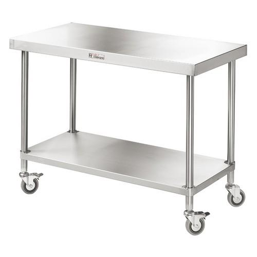 WORK BENCH S/S MOBILE 1800X600X900MM SIMPLY STAINLESS