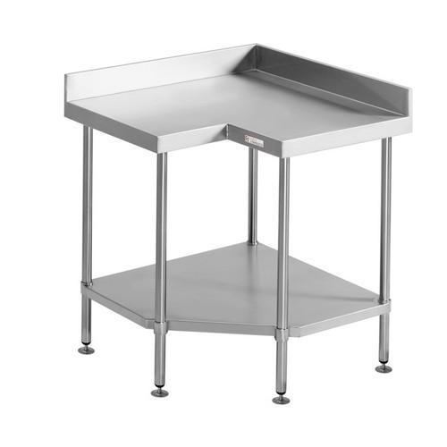 CORNER BENCH S/S 900X700X900MM SIMPLY STAINLESS