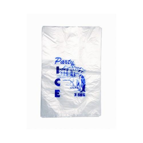 ICE BAG PLASTIC CLEAR STOCKPRINT 5KG 600X300MM (CT500)