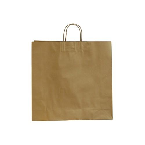 BAG PAPER BROWN SHOPPING W/H LARGE 480X340X90MM (CT250)