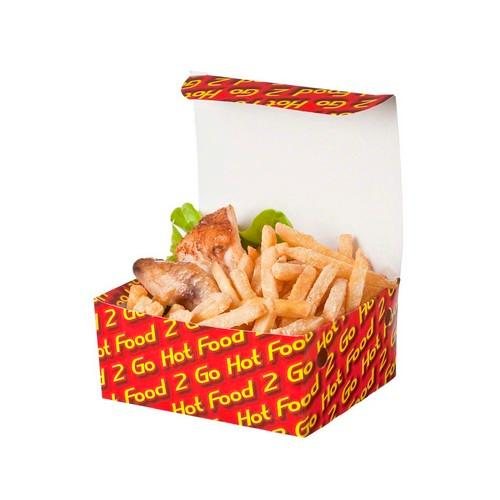 SNACK BOX BOARD LARGE HOT FOOD 2 GO 190X114X67MM (CT250)