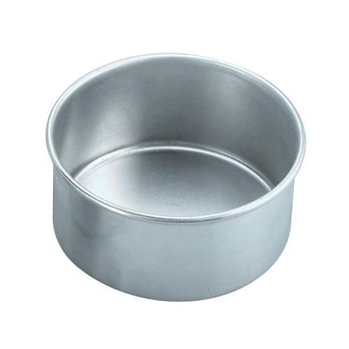 CAKE PAN ALUM ROUND 200X75MM CHEF INOX