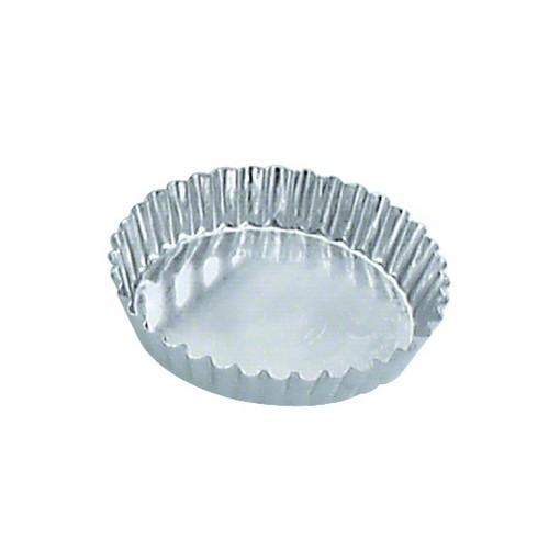 TART MOULD TIN FLUTED 85X16MM FIXED BASE GUERY