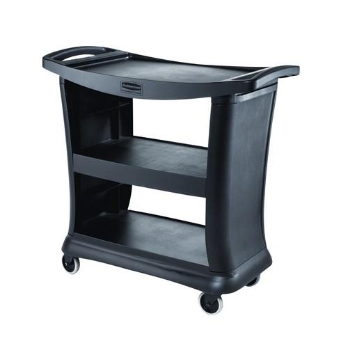 CART / TROLLEY EXECUTIVE SERVICE 3 SHELF BLACK RUBBERMAID