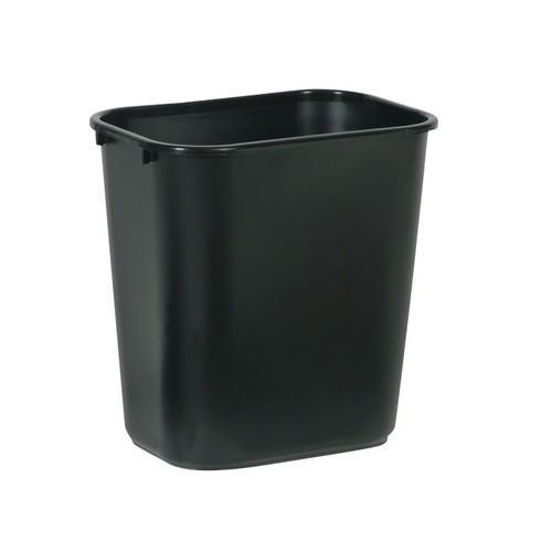 WASTEBASKET RECT MEDIUM 26.6L BLACK RUBBERMAID