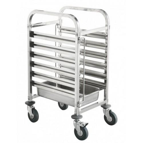 TROLLEY GASTRONORM S/S SHORT 6 X GN 1/12 PAN 380X550X1000MM