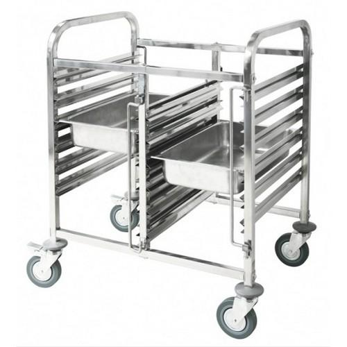 TROLLEY GASTRONORM DOUBLE S/S SHORT 12 X GN 1/1 PAN 740X550X1000MM
