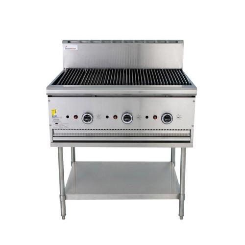 CHARGRILL BBQ 900MM WSTAND GAS TRUEHEAT