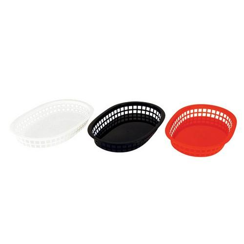 BASKET BREAD PLASTIC RECT RED 270X180X40MM