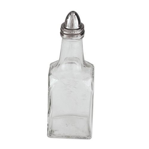 BOTTLE OIL & VINEGAR GLASS SQUARE 150ML S/S TOP