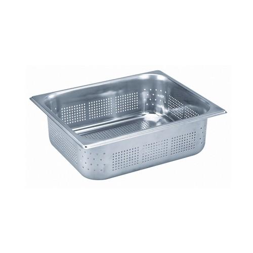 GASTRONORM PAN S/S 1/2 SIZE PERF 100X265X325MM